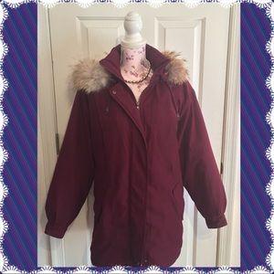 Burgundy Winter Jacket by Jaqueline Ferrer